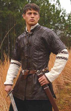 Short sleeve leather jerkin - I like it!