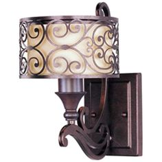"Maxim 21152 1 Light 12"" Tall Wall Sconce from the Mondrian Collection Umber Bronze / Wheat Indoor Lighting Wall Sconces"