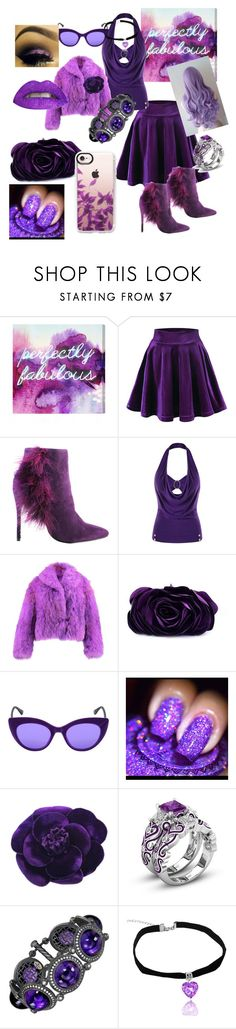 """""""Passionately Purple"""" by melissa-jones-01 ❤ liked on Polyvore featuring Oliver Gal Artist Co., Michael Antonio, WithChic, Italia Independent, Chanel, Alex Soldier and Casetify"""