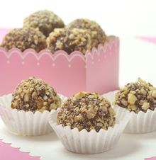 Chocolate Hazelnut Truffles  Rich chocolate blends with the flavors of hazelnuts and almonds - a true treat for your Valentine!
