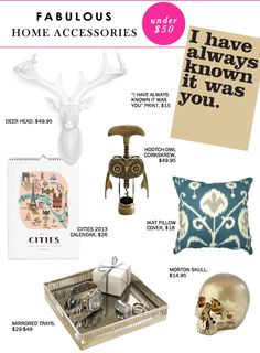 Fabulous Home Items Under Fifty Dollars
