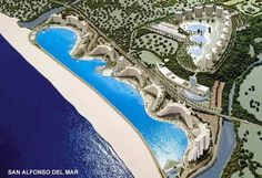 San Alfonso del Mar, Algarrobo, Chile - A pool right by the ocean...? And how in the world is the beach that perfect?