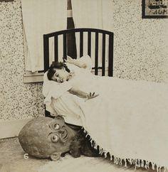 Boogeymen - part of a series of eerie stereoviews - dated 1923