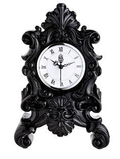 baroque + mantel clock