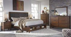 Best! Ralene 5 Pc. Bedroom - Dresser, Mirror & Queen UPH Bed with Storage