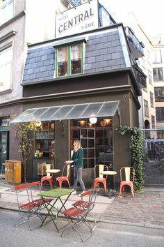 On a quiet street in Copenhagen's Vesterbro neighborhood, you'll find Central Hotel & Cafe, one of the world's tiniest hotel. And when we say tiny, we mean tiny: Aside from its downstairs lobby/coffee shop, the hotel's only lodging is a double room with one bed.