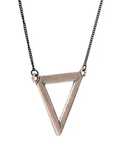 icon brand necklace - triangle