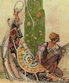 """1912 Fairie Tale Art From """"In Powder and Crinoline"""" [The Twelve Dancing Princesses], in my shop now"""