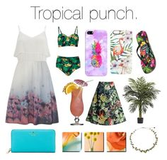"""""""Tropical Punch"""" by estella-faith17 ❤ liked on Polyvore featuring Vero Moda, Chicwish, Casetify, Kate Spade and Gandys"""