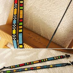 I wanted to exhibit you steps to make a bracelet with natural stone and leather thread with video. Loom Bracelet Patterns, Bead Loom Bracelets, Bead Loom Patterns, Woven Bracelets, Weaving Patterns, Jewelry Patterns, Handmade Bracelets, Diy African Jewelry, Leather Thread
