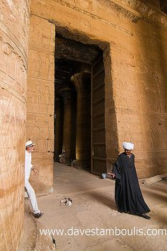 in the Horus temple of Edfu in Egypt