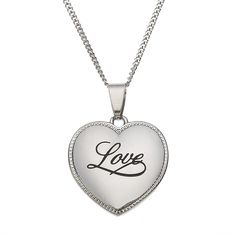High Polished Stainless Steel Love Heart Shaped Pendant