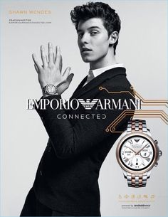 A sleek vision, Shawn Mendes appears in Emporio Armani's connected campaign.