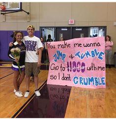 Yay for cheerleader asking