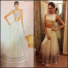 Like the skirt. Second look for Deepika Padukone at Star screen awards performance in mirrorwork crop choli and lahenga:) by Arpita Mehta Indian Wedding Outfits, Indian Outfits, Indian Weddings, Wedding Dress, Indian Attire, Indian Wear, Mehndi, Indian Princess, Foto Casual