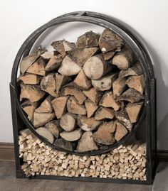 Nordic Log Ring And Kindling Store With Poker