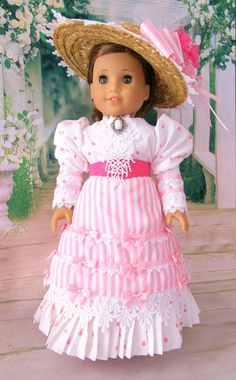 Pink Victorian Walking Suit For American Girl by HiddenDoorStudio