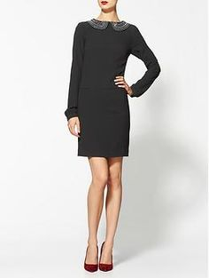 Trina Turk Baroness Peter Pan Collar Dress~loving that collar