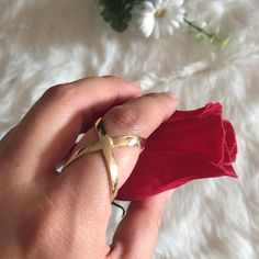 Bella ring in gold Brand new. Bella ring in size 6.5. 18k gold plated. Bundle to get even bigger savings! Offers welcome. ❌No trades. Boutique Jewelry Rings