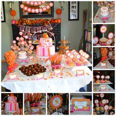 Pumpkin Birthday Dessert Table