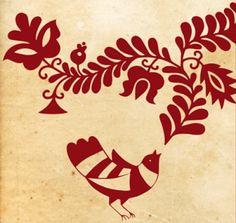 Legyél te is mesehős! Hungarian Embroidery, Bird Embroidery, Embroidery Designs, Embroidery Stitches, Stencil Diy, Stencils, Scandinavian Folk Art, Art N Craft, Painted Pots