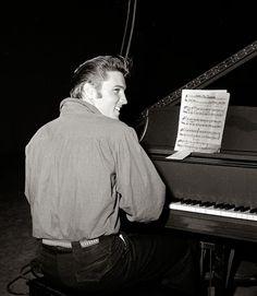 Elvis playing Love Me Tender
