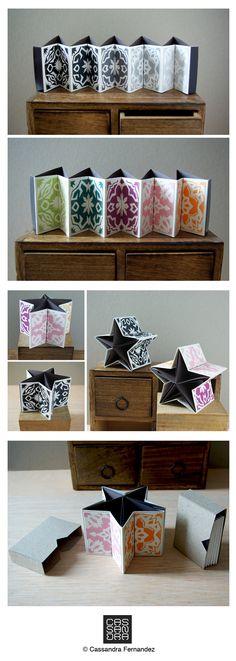 Miniature artist books by Cassandra Fernandez.