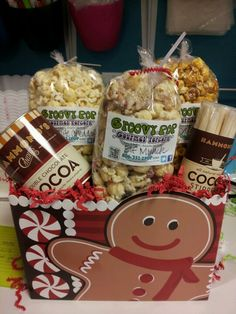 Groovy Pop gourmet popcorn and Hammond's hot cocoa!