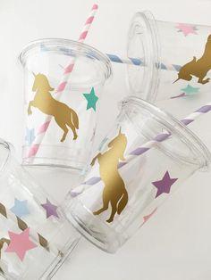 Unicornio parte tazas cumpleaños Baby Shower de unicornio | Etsy