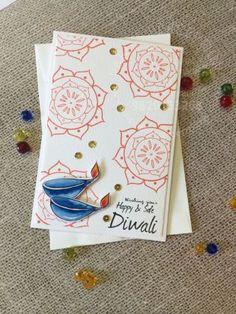Buy Diya 2 Diwali Cards, Diwali Greeting Cards, Diwali Greetings, Greeting Cards Handmade, Creative Crafts, Diy And Crafts, Handmade Birthday Cards, Tattoo Drawings, Envelopes