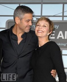 George Clooney and his mom