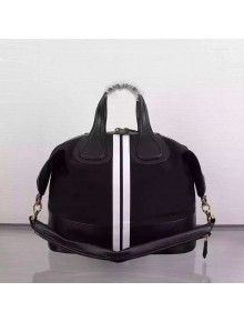 Givenchy Medium Nightingale Bag In Cotton And Calfskin With White Strips 00ef2e7511ee5