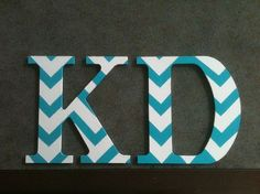 Blue+white chevron would look great on your large, chapter size wooden letters!