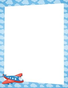 Airplane page border. Free downloads at http://pageborders.org/download/airplane-border/: