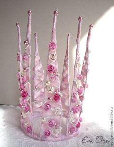 Корона - розовый,цветочный,корона для фотосессии,корона,фея,принцесса