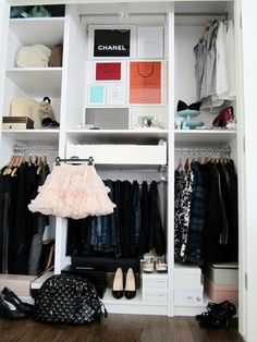 Closet Idea. Love the separate section for hanging jeans & pants