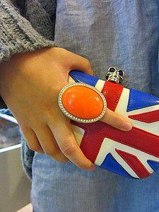 Oval Orange Ring