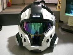 Halo 3 CQB Helmet Lifesize Casting Replica by on Etsy. Friggen love this helm! Custom Motorcycle Helmets, Custom Helmets, Motorcycle Style, Motorcycle Gear, Taktischer Helm, Futuristic Helmet, Helmet Armor, Sci Fi Armor, Cosplay Armor