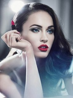 I'm not a huge fan of Megan Fox but she looks stunning in this photo! i'm lovin the red