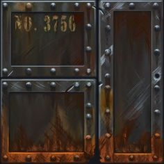 rusty bolted metal cargo texture