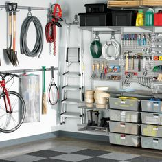 Rev up the storage potential of your garage with elfa utility!