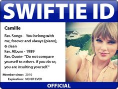 Here is Enchated Swiftie's ID! (I made two. One with barcode and one without) Message me to get yours!