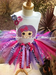 Shabby Pillow Featherbed LaLaLoopsy TuTu Set w/ by flutterbyetutu, $58.50