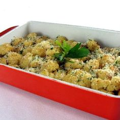 I will never eat cauliflower any other way again. This is so good! Oven roasted cauliflower with garlic and parmesan.    #side dish
