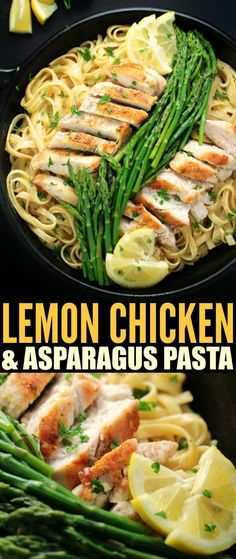 This recipe for Lemon Chicken & Asparagus Pasta is an easy one-pot dinner that comes together in about 30 minutes from start to finish. Tender asparagus and a creamy lemon garlic sauce come together for a delightful family meal.
