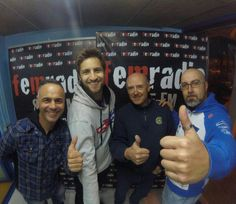 Imagen con Cani Bultó en Fem Radio.