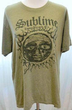 "Sublime Band Fan Tshirt Six Fifty One ""Sublime Long Beach, CA"" Green #SixFiftyOne #GraphicTee"