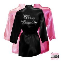 Can't say no to bling! Bikini Competitor Robe with Rhinestone by CompetitionBikini