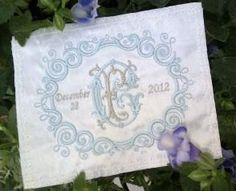 Bride Wedding dress label with custom embroidered by HeLovesMae, $20.00
