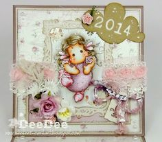 DeeDee´s Card Art - Tilda with Spring Ballon - Lost & Found Collection